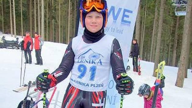 Milan Koryťák z SA Špičák byl nejlepším závodníkem Plzeňského kraje v Šumavském pohárku v kategorii předžáků.