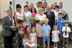 Zlatá svatba v Dešenicích.