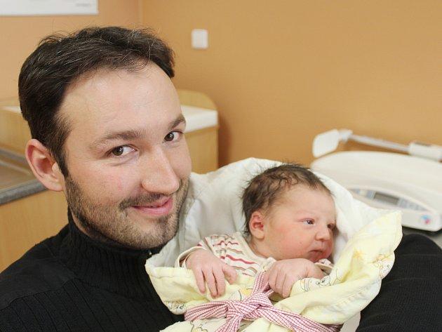Anna Šmídová ze Srbic (3750 g, 50 cm) se narodila v Klatovech 12. ledna ve 20.31 hodin. Maminka Jiřina s tatínkem Zbyňkem přivítali svoji prvorozenou dceru na svět společně.