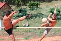 Nohejbalový turnaj 2013 v Zahorčicích.