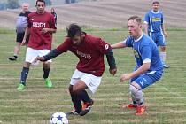 Fotbal zápas IV. třídy mužů sk. A Dlažov (červení) - Švihov.