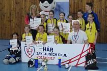Dívky U10 ze základní školy Měčín skončily v národním finále na 3. místě a postoupily do celorepublikového finále.