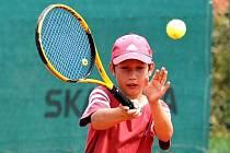 Na snímku je horažďovická tenisová naděje Jiří Křesák.