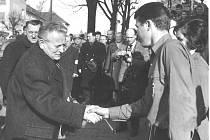 Prezident Antonín Novotný v Klatovech