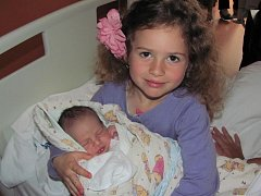 David Petřík ze Sušice (3570 gramů, 50 cm) se narodil v klatovské porodnici 25. května ve 22.58 hodin. Rodiče Lenka a David si nechali pohlaví miminka jako překvapení. Z brášky má radost i  Anička (5,5).