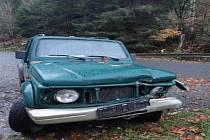 Nabourané auto u Čeňkovy Pily.
