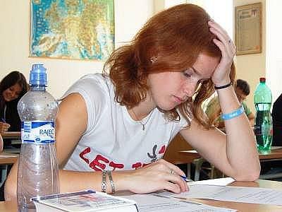 Maturitu nanečisto si vyzkoušela i Kateřina Fleisigová z oktávy A klatovského gymnázia.