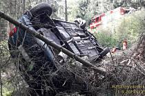 Nehoda u Zelené Lhoty. Foto: HZS