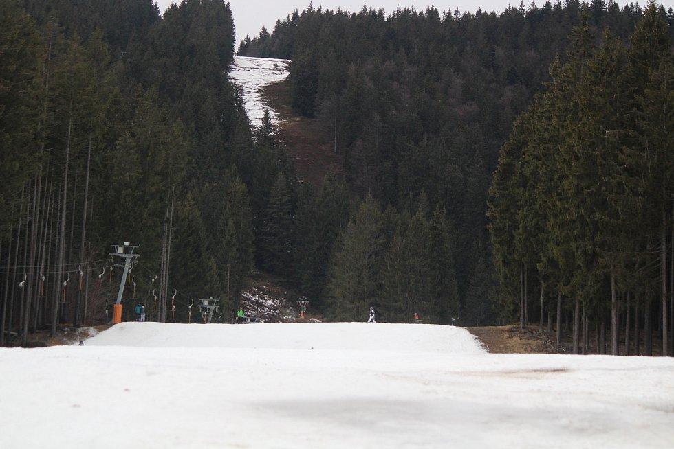 Šumavský Špičák v sobotu 1. února 2020.