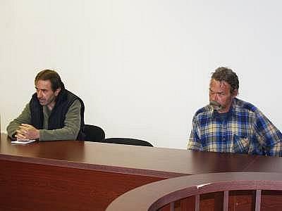 Obžalovaní Josef Schamberger (vlevo) z Běhařova a Ondrej Uhrin z Chudenína