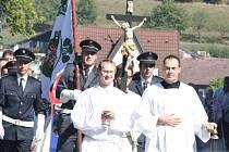 Uložení ostatků papeže Jana Pavla II. ve Strážově.