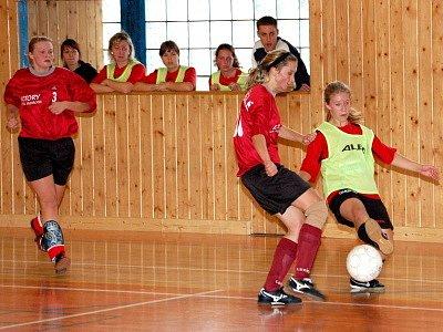 V utkání pátého kola zimní Dívčí amatérské fotbalové ligy porazila vedoucí bolešinská Kobra A Andělky ze Svaté Anny 8:2.