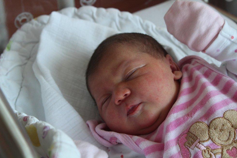 Emilie Jílková z Břežan (3210 g, 48 cm) se narodila v klatovské porodnici 31. července v 17.05 hodin. Rodiče Dominika a Tomáš věděli, že Tobias (6) bude mít sestřičku. Foto: Deník/Lucie Kohoutová