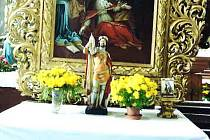 Ukradená socha z horažďovického kostela.