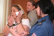 Markéta Biharyová u klatovského soudu