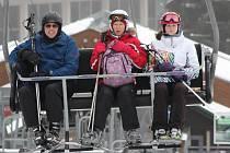 První lyžování na Špičáku.