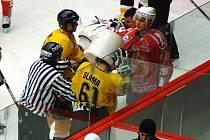 Druholigové utkání mezi Sokolovem a Klatovami skončilo hromadnou bitkou