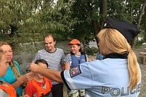 Policejní akce u Otavy.