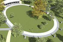 Návrh centra velkého parku v Klatovech.