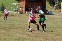 Snímek z loňského 17. ročníku turnaje v malé kopané, který se odehrál v Hamrech.