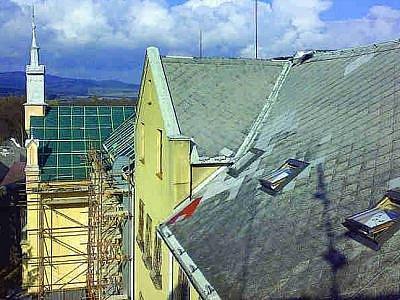 Střecha před rekonstrukcí.