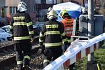 Při střetu s vlakem v Klatovech zemřel starší muž.