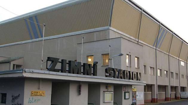 Zimní stadion v Klatovech.