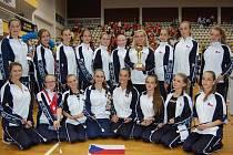 Juniorky mažoretek Modern Klatovy na mistrovství Evropy v Chorvatsku 2014.