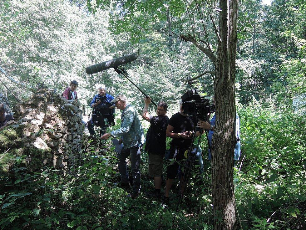 Snímky z natáčení 6., 7. a 8. dílu třetí řady Policie Modrava.