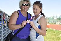 Z bronzové medaile a nového osobního rekordu se radovaly Kateřina Skypalová a její trenérka, bývalá olympionička Lucie Plašilová-Vrbenská.