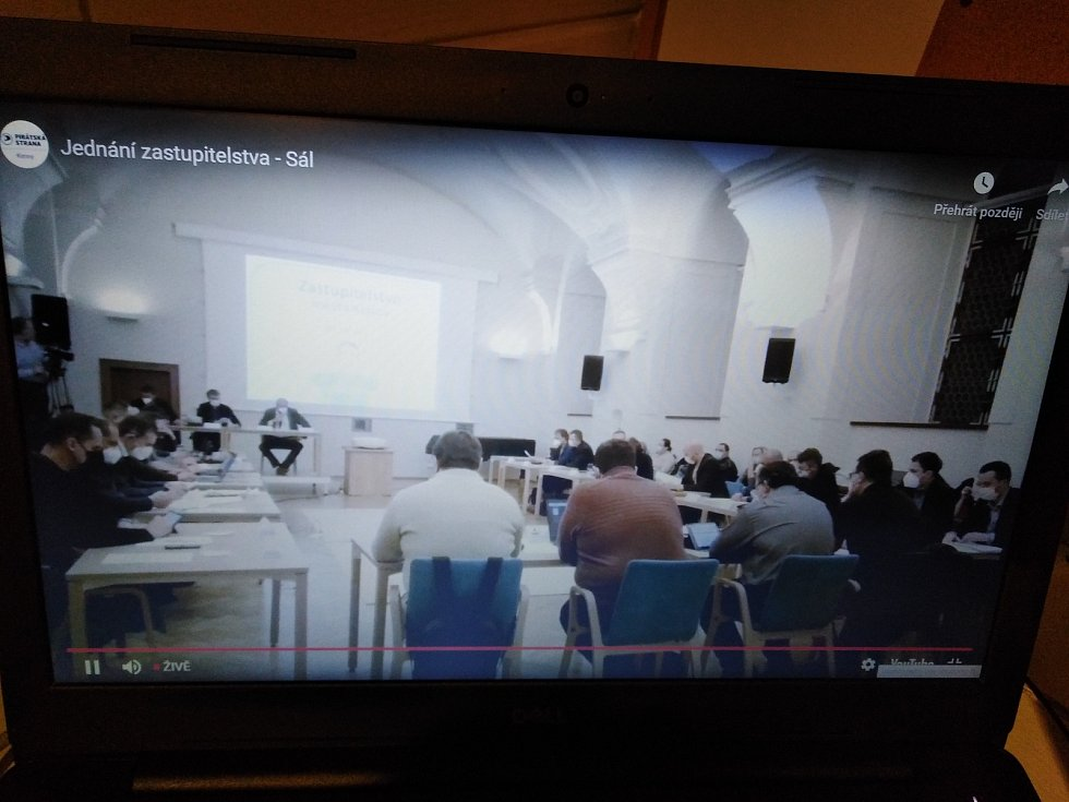 Přenos Pirátské strany klatovského zastupitelstva.