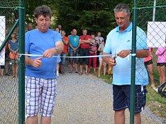 Slavnostní otevření nových tenisových kurtů v Pačejově.