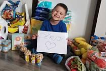 Čtyřletý Tadeášek, jehož maminka žádala o pomoc Patrona dětí a velmi jim pomohli.