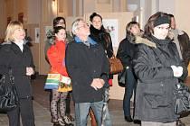Vernisáž výstavy v rámci Dnů španělské kultury v Klatovech.