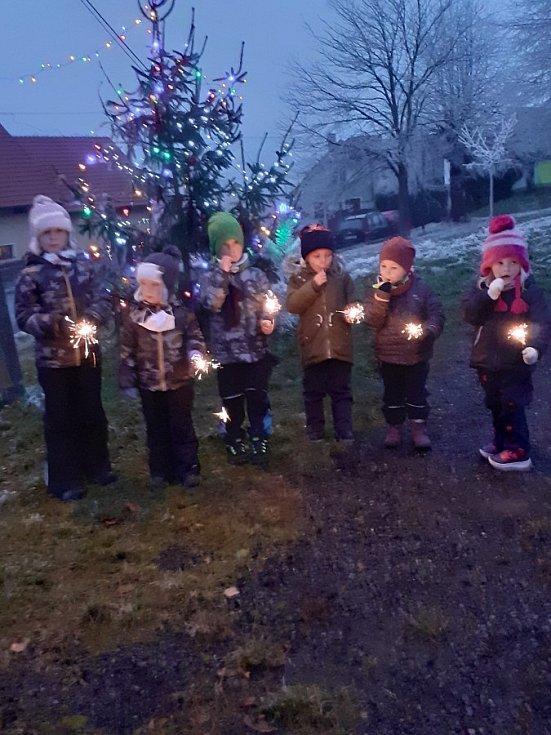 Vánoční strom v Milčicích.