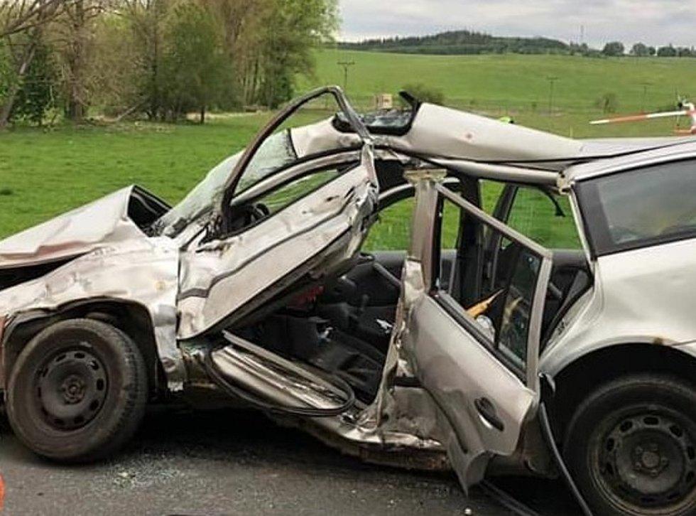 Auto Romana Kubaleho po nehodě. Foto: LZS