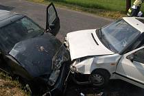 Sobotní nehoda u Volšov