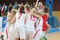 Mistrovství světa žen U17 v basketbale: Česká republika - Kanada 71:62.