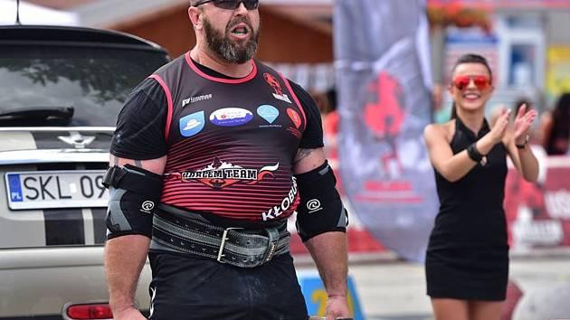 Jiří Vytiska na strongman závodech v Polsku.