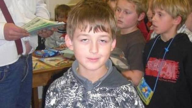 Tomáš Hurdzan  z Klatov kraloval při Klatovské věži nejnabitější kategorii dětí z 1. až 4. třídy základních škol.
