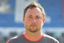 Trenér staršího dorostu Klatov Martin Lepeška.