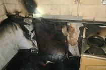 Požár domu ve Vícenicích na Klatovsku