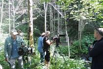 Snímky z natáčení druhého a třetího dílu třetí řady Policie Modrava.