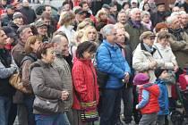 Oslavy Dne boje za svobodu a demokracii v Klatovech.