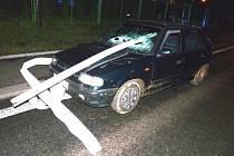 Nehoda kamionu v Lubech.