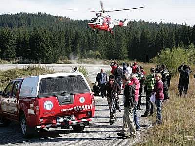 Cvičení záchranářů na Šumavě