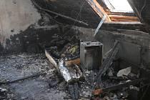 Požár domu v Horažďovicích.