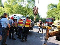 Dopravní nehoda dodávky u Dlouhé Vsi