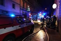 Požár ve Vídeňské ulici v Klatovech