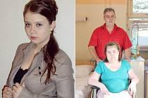Vlevo je Ilona Vávrová před propuknutím zákeřné nemoci, vpravo s tatínkem na aktuálním snímku ze současné doby.